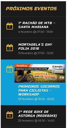 Eventos Fevereiro – 2018